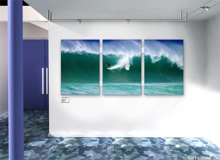 Wandbild Jack Dyrell ACTION SURFING - WAVE Wohnbeispiel