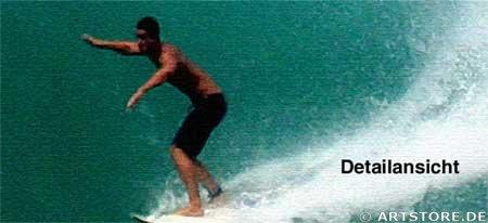 Wandbild Jack Dyrell ACTION SURFING - WAVE Detailausschnitt