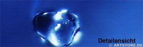 Wandbild Jack Dyrell BLUE SPLASH Detailausschnitt