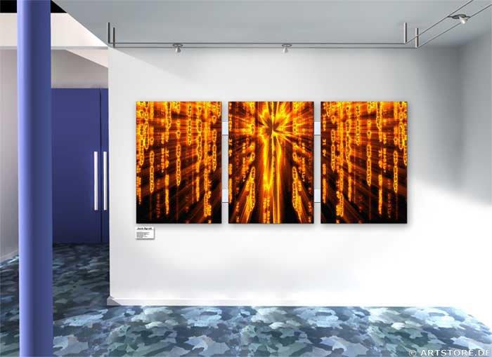 Wandbild Jack Dyrell ENERGY MATRIX Wohnbeispiel