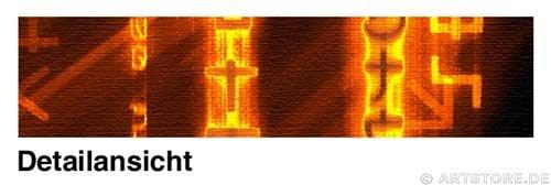 Wandbild Jack Dyrell ENERGY MATRIX Detailausschnitt