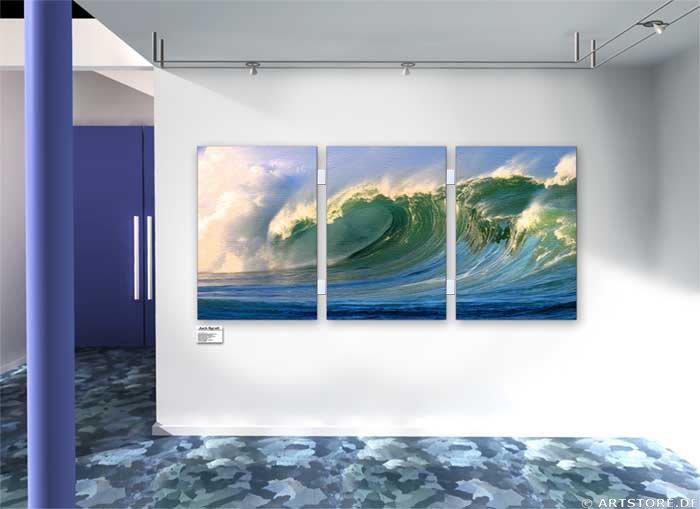 Wandbild Jack Dyrell BIG WAVE No. 1 - EDITION Wohnbeispiel