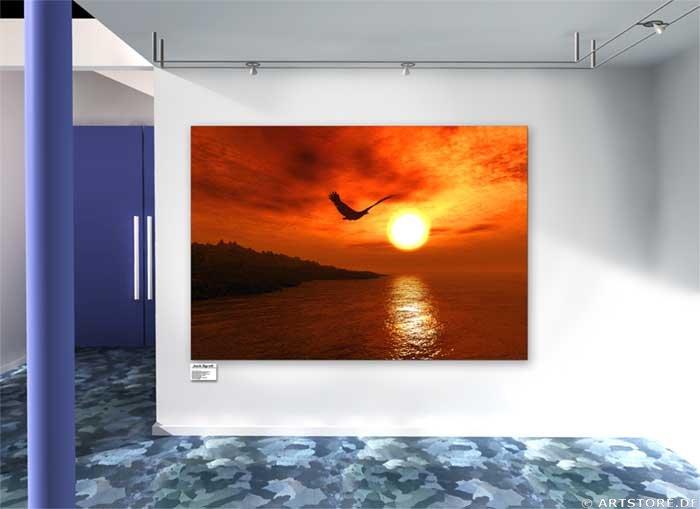 Wandbild Jack Dyrell SUNSET FLY Wohnbeispiel
