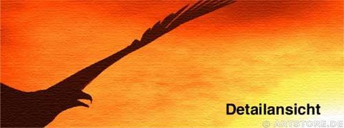 Wandbild Jack Dyrell SUNSET FLY Detailausschnitt