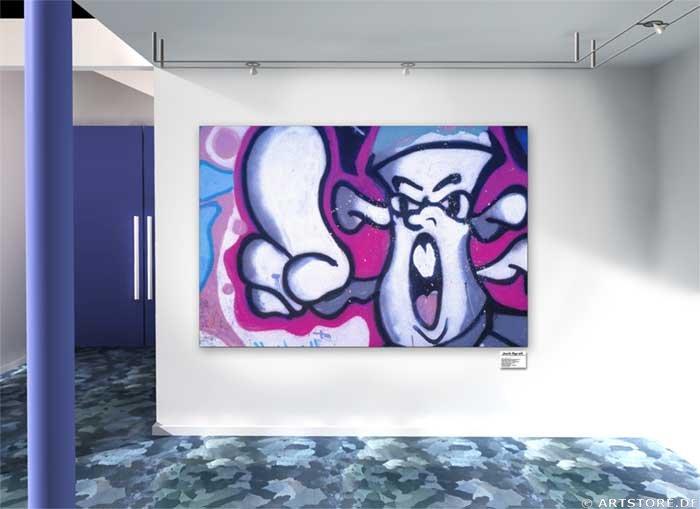 Wandbild Jack Dyrell GRAFFITY Wohnbeispiel