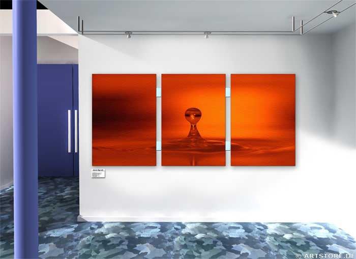 Wandbild Jack Dyrell RED DROP Wohnbeispiel