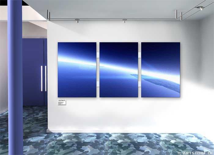 Wandbild Jack Dyrell EARTH ORBIT Wohnbeispiel