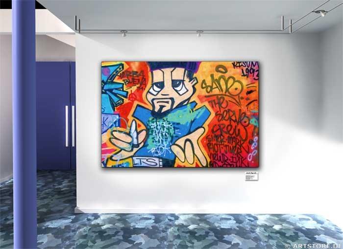 Wandbild Jack Dyrell GRAFFITY II Wohnbeispiel