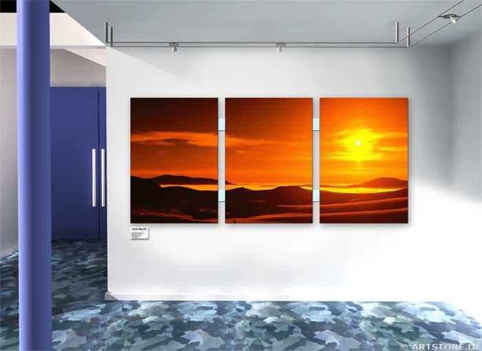 Wandbild Jack Dyrell GOLDEN SUNSET Wohnbeispiel