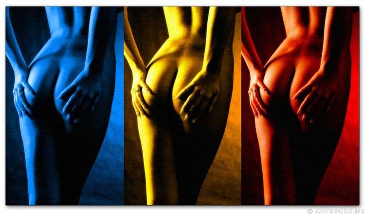 Wandbild Jack Dyrell NAKED POWER - AKT