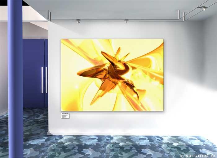 Wandbild Jack Dyrell GOLDEN HARMONY Wohnbeispiel