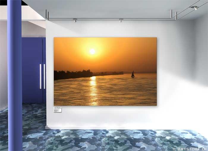 Wandbild Jack Dyrell NIL SUNSET Wohnbeispiel