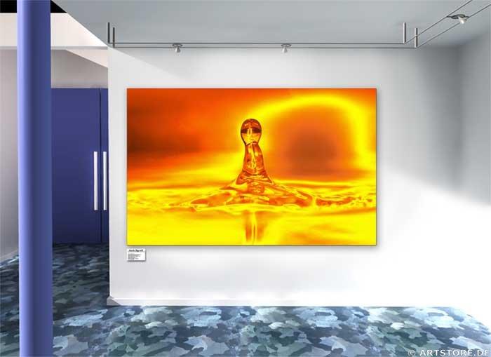 Wandbild Jack Dyrell GOLDEN DROP Wohnbeispiel