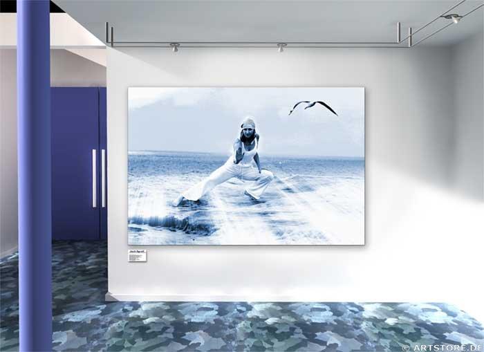 Wandbild Jack Dyrell TAI CHI Wohnbeispiel