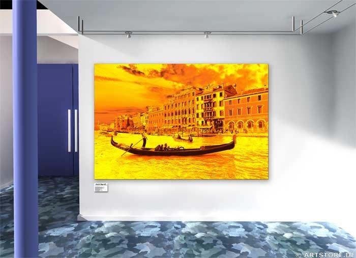Wandbild Jack Dyrell GOLDEN VENEZIA Wohnbeispiel