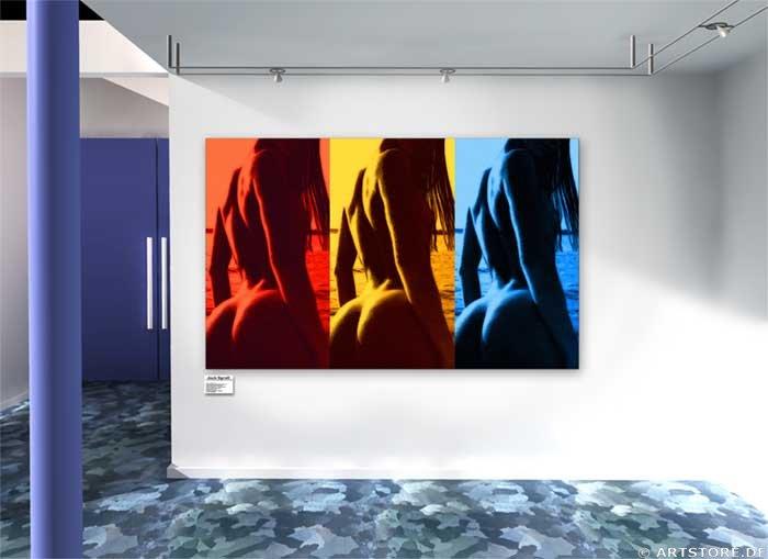 Wandbild Jack Dyrell NAKED COLOR Wohnbeispiel