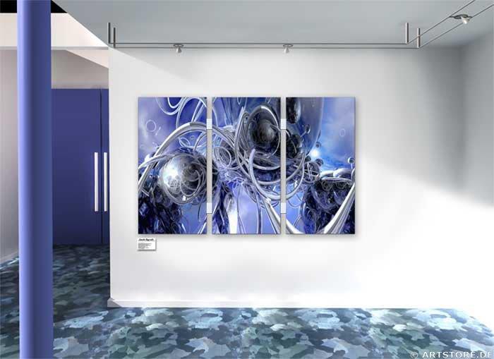 Wandbild Jack Dyrell BLUE DISTRICT Wohnbeispiel