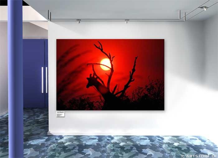 Wandbild Jack Dyrell AFRICAN SUNSET Wohnbeispiel