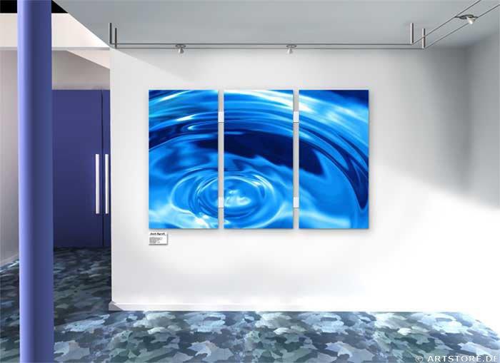 Wandbild Jack Dyrell BLUE RAZER Wohnbeispiel
