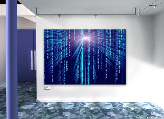 Wandbild Jack Dyrell BIG MATRIX - BLUE Wohnbeispiel