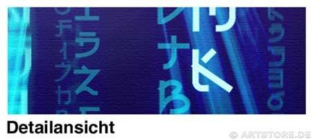 Wandbild Jack Dyrell BIG MATRIX - BLUE Detailausschnitt