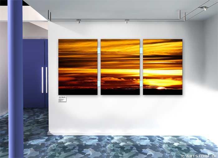 Wandbild Jack Dyrell SUNSET GOLD Wohnbeispiel