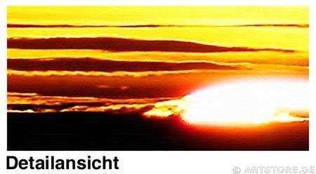 Wandbild Jack Dyrell SUNSET GOLD Detailausschnitt