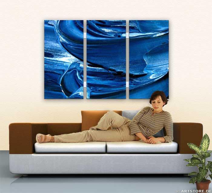 Wandbild Jack Dyrell BLUE SPIRIT Wohnbeispiel