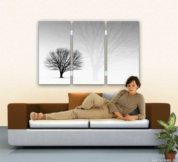 Wandbild Jack Dyrell STRONG TREE Wohnbeispiel