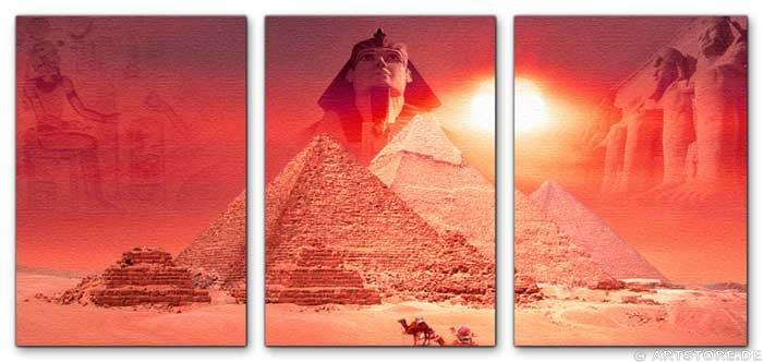 Wandbild Jack Dyrell MYTHOS ÄGYPTEN EDITION in RED