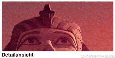 Wandbild Jack Dyrell MYTHOS ÄGYPTEN EDITION in RED Detailausschnitt