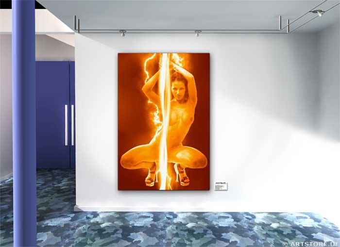 Wandbild Jack Dyrell FLASH DANCE Wohnbeispiel