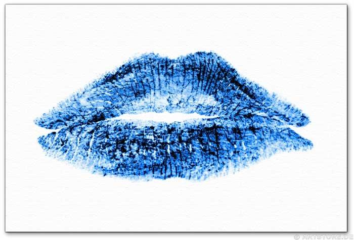 Wandbild Jack Dyrell BLUE LIPS