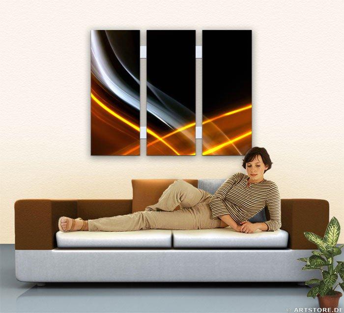 Wandbild Jack Dyrell CROSSING LIGHTS Wohnbeispiel