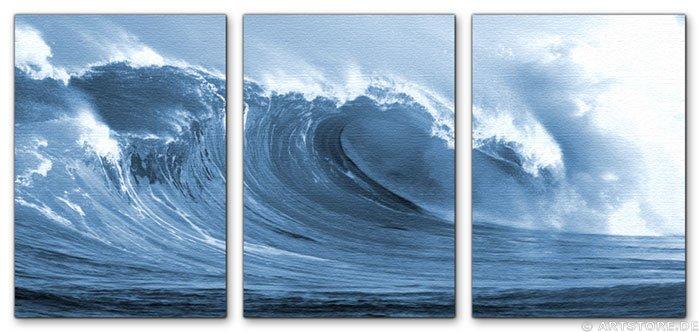 Wandbild Jack Dyrell SILVER WAVE