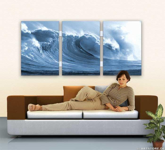 Wandbild Jack Dyrell SILVER WAVE Wohnbeispiel