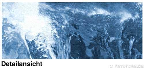 Wandbild Jack Dyrell SILVER WAVE Detailausschnitt