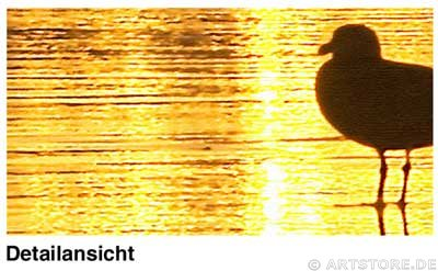 Wandbild Jack Dyrell GOLDEN SILENCE Detailausschnitt