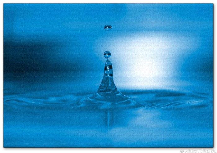 Wandbild Jack Dyrell BIG BLUE WATER DROP
