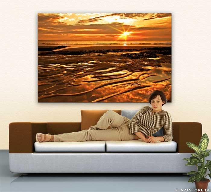 Wandbild Jack Dyrell BIG GOLDEN SUNSET Wohnbeispiel