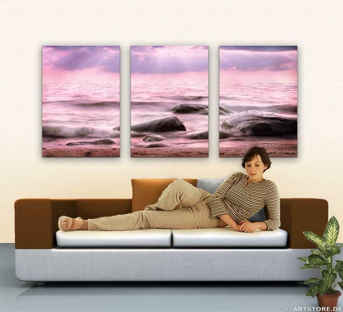 Wandbild Jack Dyrell FLOWING SUNRISE Wohnbeispiel