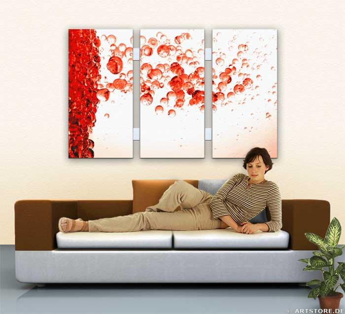 Wandbild Jack Dyrell RED DROPS Wohnbeispiel