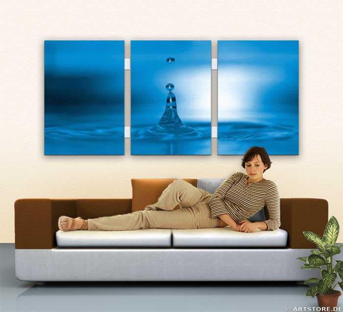 Wandbild Jack Dyrell BIG BLUE DROP Wohnbeispiel