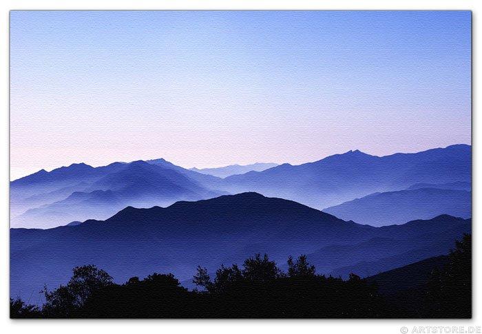 Wandbild Jack Dyrell BLUE MOUNTAINS