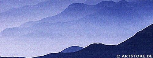 Wandbild Jack Dyrell BLUE MOUNTAINS Detailausschnitt