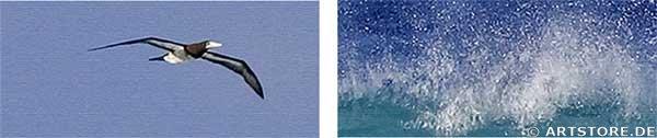 Wandbild Jack Dyrell BRANDUNG 2 Detailausschnitt