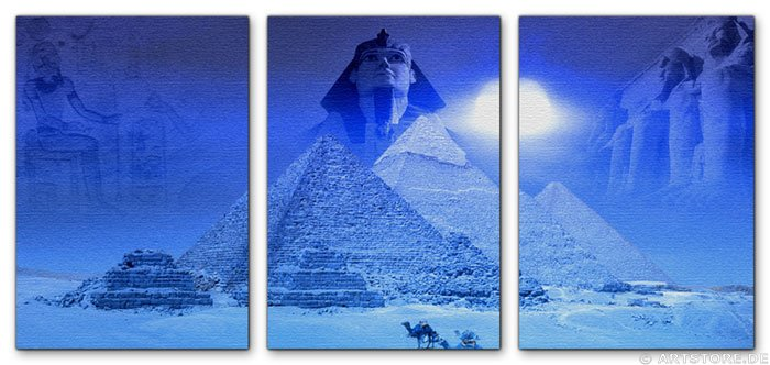 Wandbild Jack Dyrell MYTHOS ÄGYPTEN EDITION in BLUE