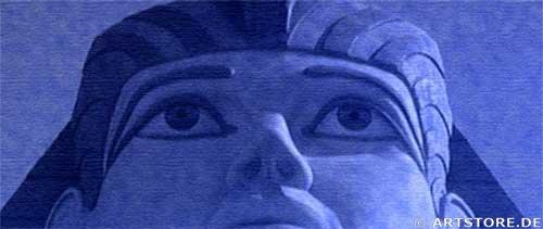 Wandbild Jack Dyrell MYTHOS ÄGYPTEN EDITION in BLUE Detailausschnitt