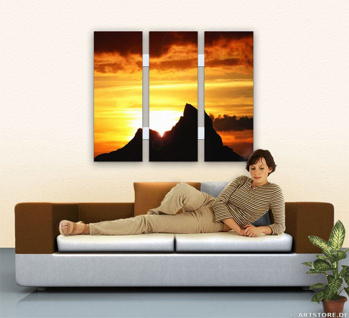 Wandbild Jack Dyrell K2 SUNRISE Wohnbeispiel