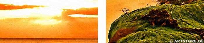Wandbild Jack Dyrell BEST SUNSET Detailausschnitt